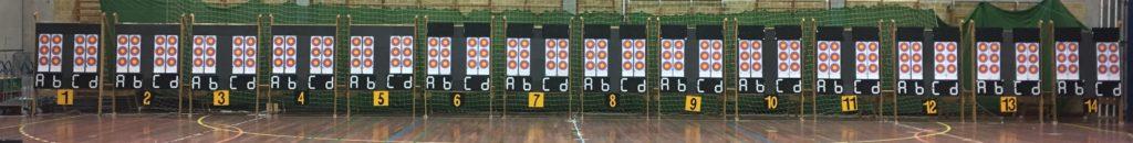 Skydeskiver klar til stævne for bueskytter